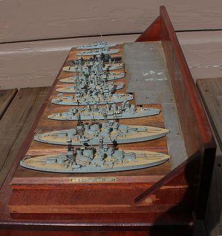 Antique W.  E.  Geoghegan Smithsonian Wwi Wood U.  S.  Navy Id Model Ships Battleships photo