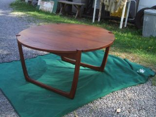 Antique John Stuart Inc Signed Ff,  Teak Round Coffee Table Danish Modern photo
