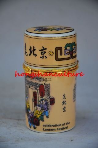 Delicate Chinese Colorful Porcelain Hand - Painted Children Jewelry Box Wr0138 photo