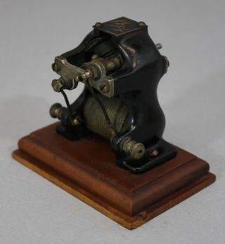 Antique Early 20thc Miniature Ajax Electric Motor,  Scientific Mechanical Toy,  Nr photo