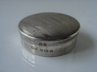 Antique 1926 Fully Hallmarked Solid Silver Snuff/pill Box photo
