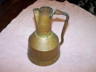 Rare Antique Old Ottoman Turkish Copper Water Milk Pitcher,  Jug photo