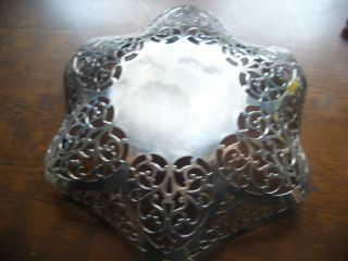 Silver Fancy Sweet Bowl By Asp And Co B/ham Date Letter H photo