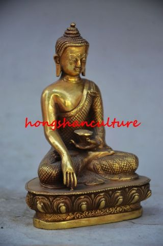 Collectible Chinese Copper Gilt Gold Old Handwork Shakya Muni Statues Wr0531 photo