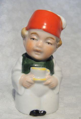 Germany Figural Man/gentleman Tea Cup German Pepper Shaker/pot/cruet Half Doll photo