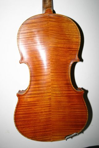 Old Antique German 4/4 Violin J G Ficker 1921 Playing Cond Big Sound photo