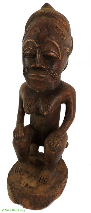 Baule Seated Female Asie Usu Ivory Coast African Art Was $165 photo