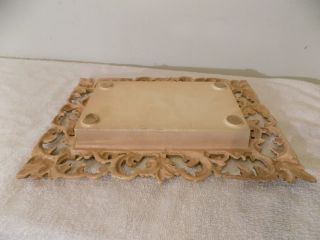Antique Vintage Lincoln Of Rutland Victorian Center Piece Planter Trivet Tray photo