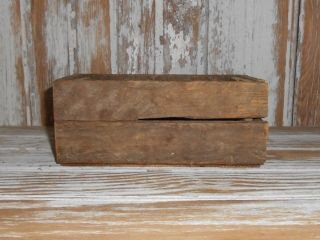 Primitive Small Lathe Wood Crate Box Vintage Look 4