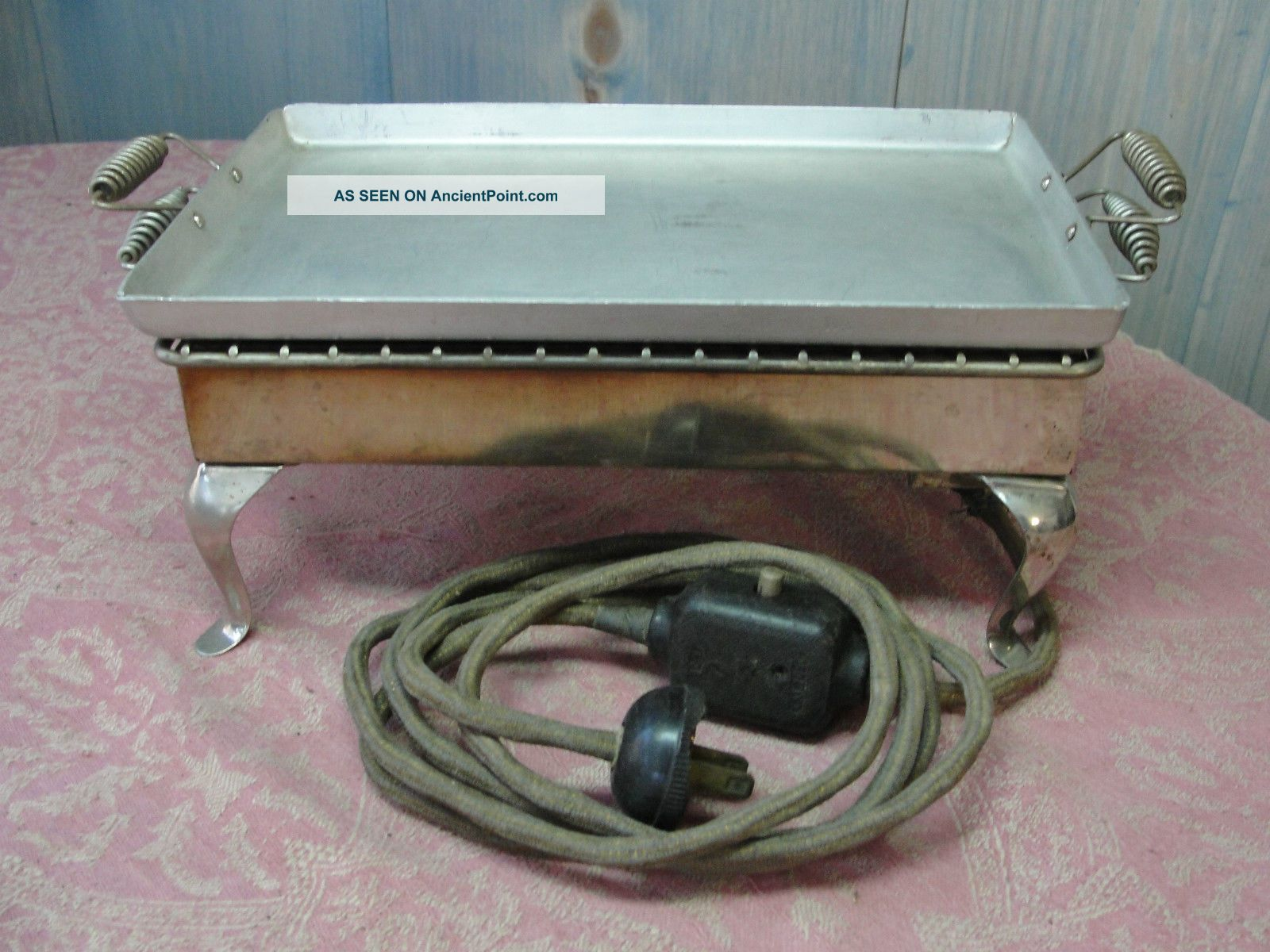 Antique 1914 Chrome Westinghouse E & M Co Early Electric Toaster Griddle Toasters photo