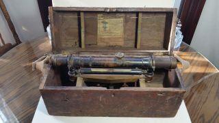 Brandis Mfg.  Co.  York 1890 ' S Transit Survey Scope In Wooden Box photo