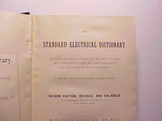 1899 Electrical Dictionary By Sloane 682 Pp.  Hundreds Of Pictures Of Devices Vg, photo