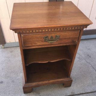 Davis Cabinet Co.  Walnut Nightstand Made In The Usa photo