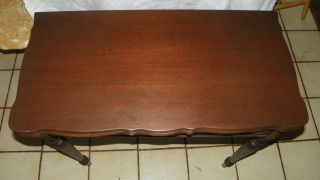 Mahogany Carved Game Table / Card Table / Entry Table (t460) photo