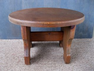 Vintage Foot Stool Near - Top - Of - Stack Primitive Country Cricket Footstool Bench photo