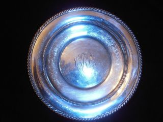 Antique Solid Sterling Silver Gorham 344 Platter Tray Plate Charger 7 Oz. photo