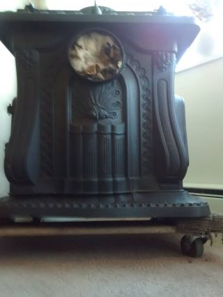 Antique Clarion Wood Burning Stove Circa 1886 Cast Iron Rectangular Type photo
