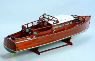 Chris Craft Commuter 1929 - Handcrafted Wooden Classic Motor Boat Model photo