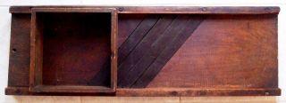 Antique Oak 4 - Blade Cabbage Shredder Or Slaw Cutter Board - Great Patina photo