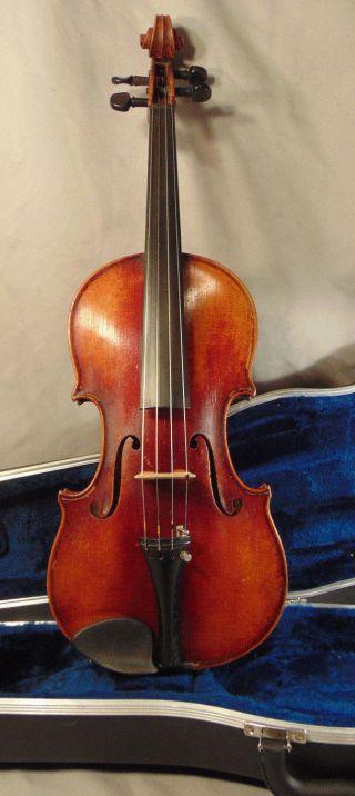 Antique Heinrich O.  Heberlein 4/4 German Violin Estate Fresh W/ Case photo