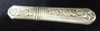 French Silver Needle Case Etui,  Roses,  C 1900 photo