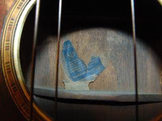 Antique Flat Top Acoustic Guitar W/ Rhinestone Accents Supertone Parts/repair photo