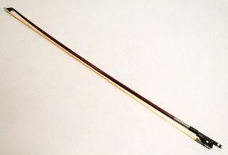 Vintage Early 20c German Franz Winkler Master Violin Bow Octagonal Stick photo
