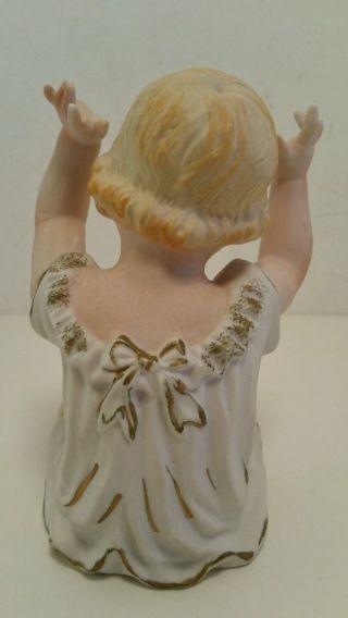 Vintage Piano Baby Porcelain Bisque Figurine photo