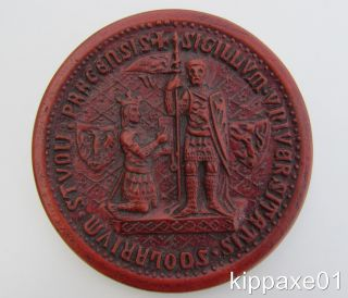Medieval Wax Seal Charles University Prague 1348 Wall Plaque Reproduction photo