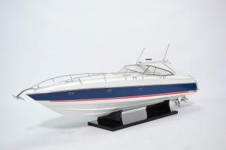 Sunseeker Superhawk 48 Yacht Model - Handmade Wooden Boat Model photo