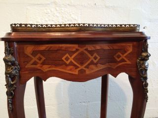 Inlay Cabinet Jewelry Chest Table Marquetry Louis Style photo