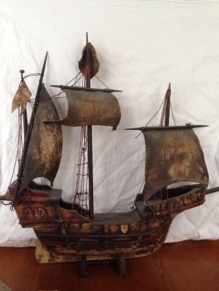 Antique Model Sailing Ship photo