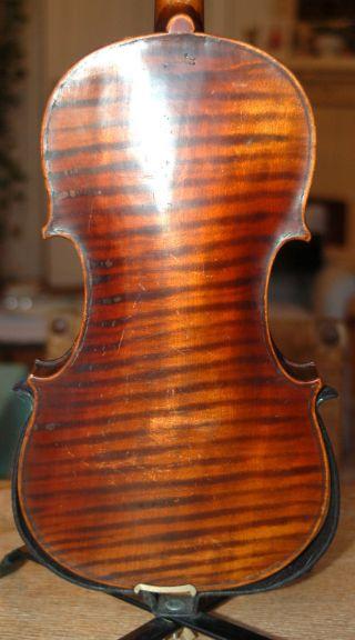 Fine German Handmade 4/4 Fullsize Violin With Case - Brandmarked Klotz - 1900 ' S photo