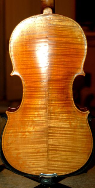 Fine Handmade German Master 4/4 Violin - Flamed - Over 100 Years Old photo