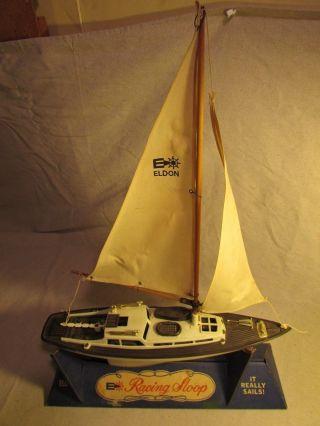 1960 ' S Eldon Boxed Playset Pond Boat Sailboat Schooner Racing Sloop photo
