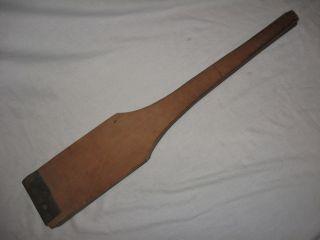 Antique Lard Press Fat Crackling Squeezer Wood Leather Authentic Primitive Tool photo