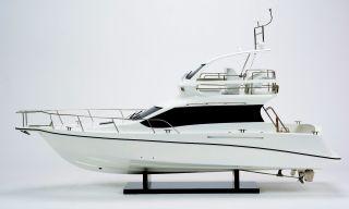 Fishing Yacht - Handmade Wooden Yacht Model photo