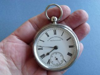 Silver Pocket Watch ' The Accurate,  H Samuel,  Manchester ' 1900 Spares photo