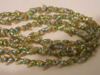 Antique Aboriginal Tasmanian Iridescent Maireener Micro Shell Necklace Long 55