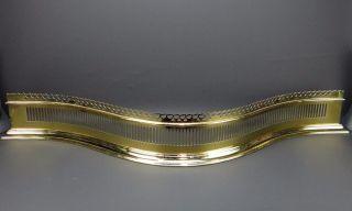 Virginia Metalcrafters Williamsburg Brass Pierced Serpentine Fireplace Fender photo