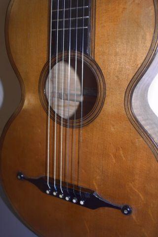 1850 Classical Early Romantic Guitar Antique Old Parlor Vintage - Thomas Simon photo