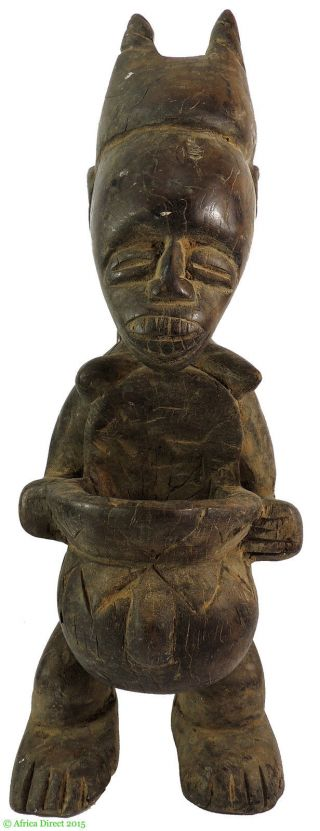 Senufo? Female Figure Cote D ' Ivoire Africa 21 Inch Was $99 photo