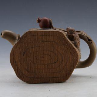 Chinese Yixing Zisha Handmade Frog Teapot By Jiang Rong photo