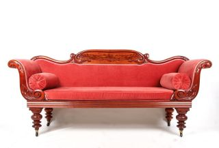 Antique Victorian Sofa Fine Quality Large Scroll Arm Four Seater Settee Pink Cha photo