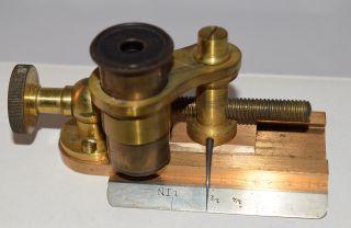 Rare B Khan & Son Microscope Magnifying Glass Instrument Slide Brass Antique Nr photo