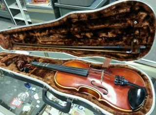 Playable Meisel Violin Model 6110 3/4 East Germ.  With Case And Box photo