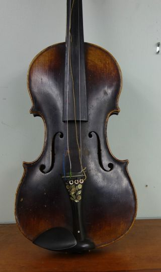 Antique Remy Violin With Inlay Case & Bow Luthier & Fadeu De Harp Paris Label photo