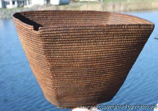 Very Fine Large Early Northwest Coast Salish Indian Burden Basket C1880 photo