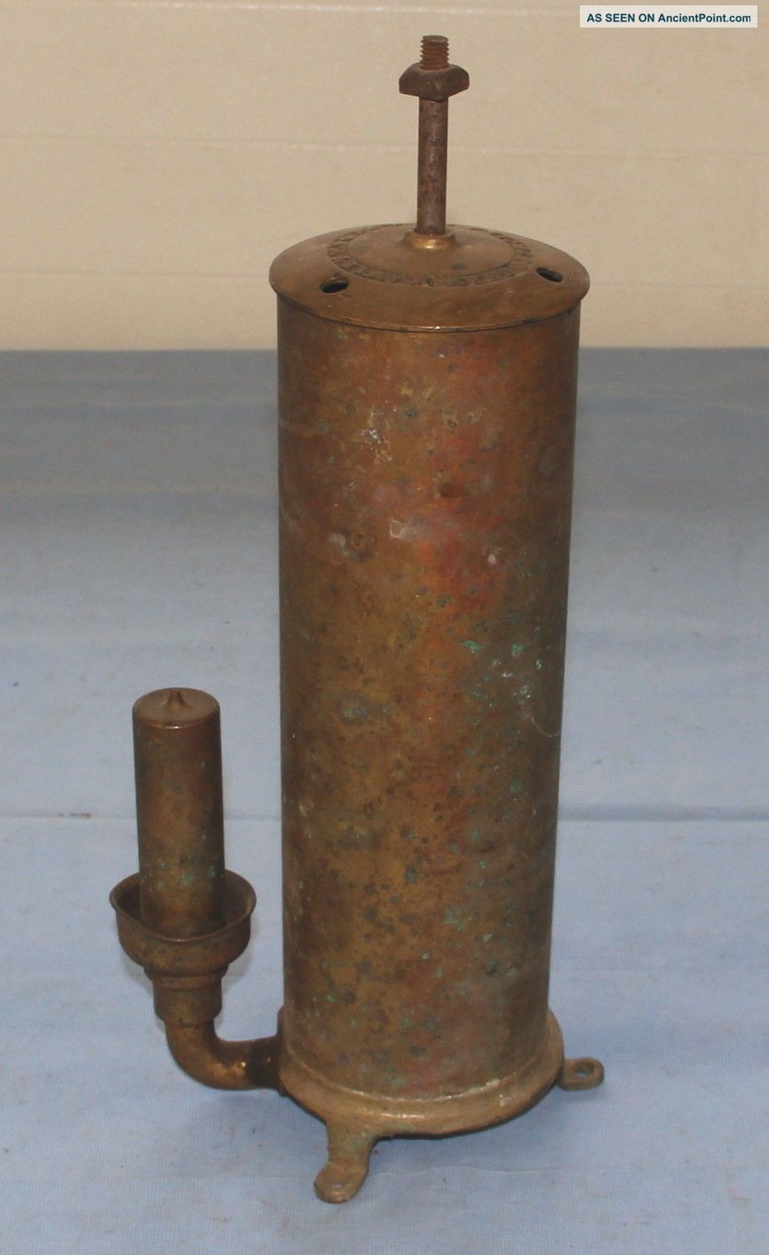 Vintage Brass Fog Horn ? Whistle Gray - Hawley Detroit Mich Steam Engine Hit Miss Bells & Whistles photo