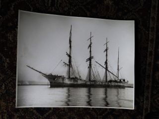 Photograph Schooner - Clive Bank - Classic 4 Mast Sailing Wood Ship photo